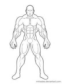 Superhero Body Drawing Templates