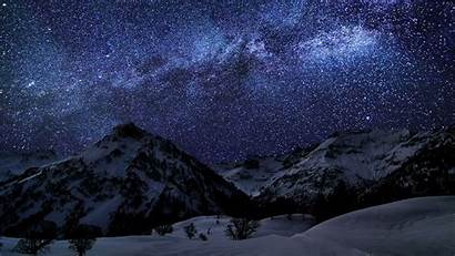 Stars Mountain Nature Desktop Wallpapers Backgrounds Mobile