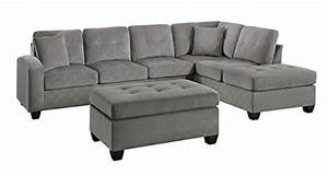 homelegance 2 piece sectional sofa polyester with With homelegance 2 piece sectional sofa