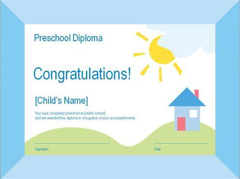 preschool diploma template preschool graduation diploma template pdf happy memorial day 2014
