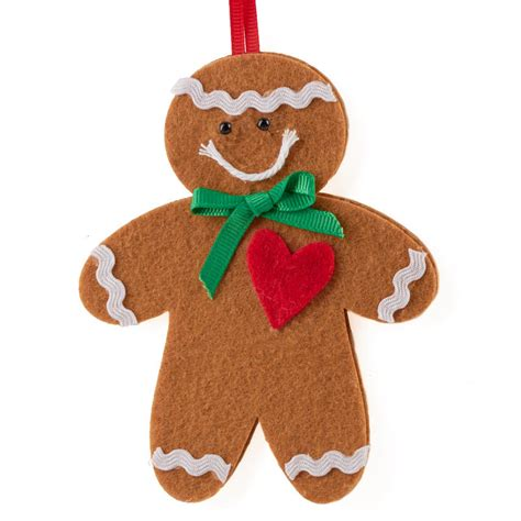 felt gingerbread man christmas ornament kit kids craft