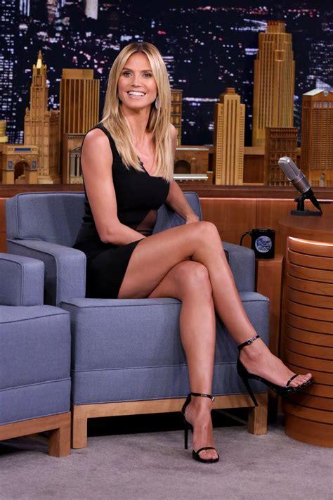 Heidi Klum Appeared On The Tonight Show With Jimmy Fallon