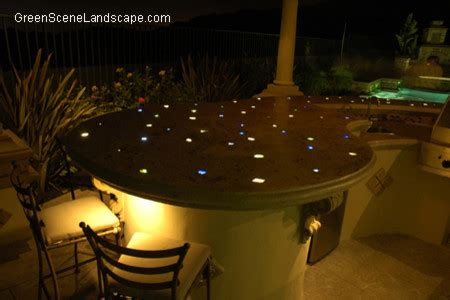 fiber optic kitchen counter modern patio los angeles