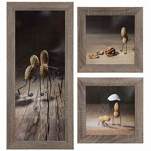 Gerahmte Bilder Kaufen : set of 3 pictures framed art print in different sizes peanuts figures brown beige ~ Orissabook.com Haus und Dekorationen