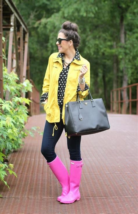 How to Wear Rain Boots 19 Outfits for Puddle Jumping   more.com