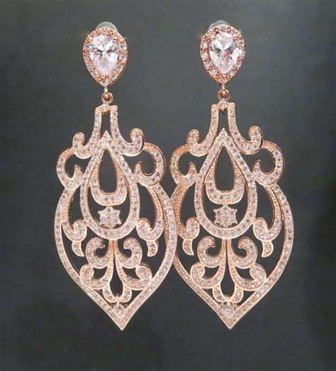 gold wedding earrings gold chandelier earrings