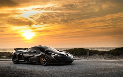 awesome black mclaren p sssupersports