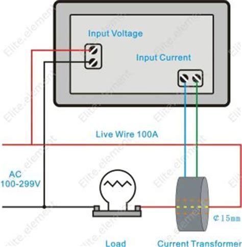 digital ac 300v 50a current voltage ammeter combo meter inverter 110v 220v mz ebay