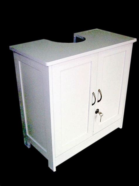 white wood  sink cabinet bathroom storage unit