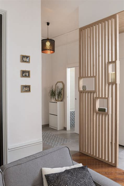 une cuisine ouverte dans  appartement lyonnais hallway