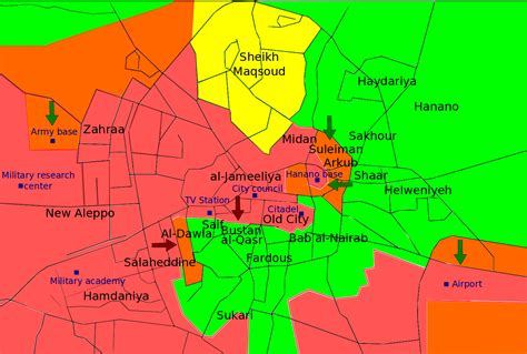 map aleppo syria