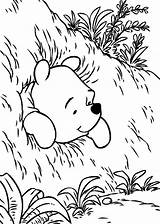 Coloring Pooh Hole Winnie Beer Bear Printable Stuck Pushing Colouring Sheets Drawing Getcolorings Cartoon Adult Results Getdrawings Library Clipart Template sketch template