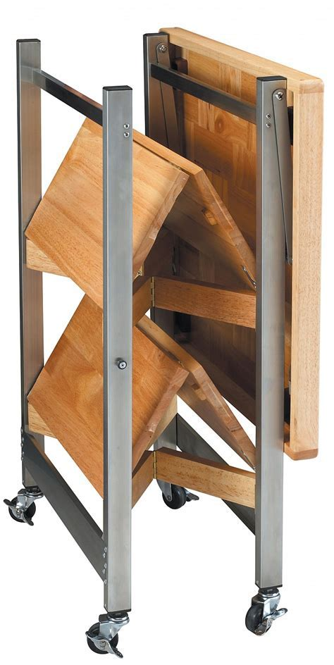 All Purpose Folding Kitchen Cart   Folding Island