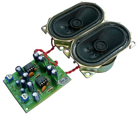 Power Amp Stereo With Speaker