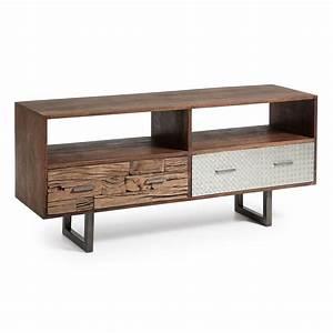 Mueble televisión en madera reciclada Muebles de T V