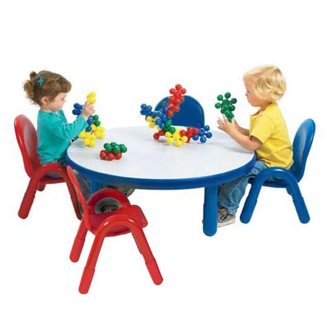 angeles baseline toddler table amp chair set 36 quot 354 | baseline table chair set round preschool toddler angeles