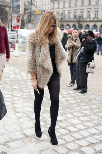 Jacket cool, leggings, fur, gales, fausse, fourrure
