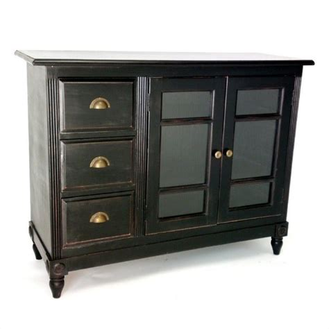 Country Sideboards by Country Sideboard In Antique Black 4558
