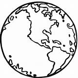 Earth Coloring Pages Printable Globe sketch template