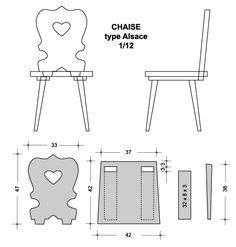 miniature european folk art type chair diy  alsatian