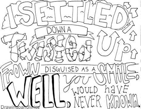 i draw band lyrics drawing in 2019 lyric drawings