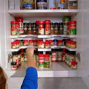 Spice, Rack, Stackable, Cabinet, Organizer