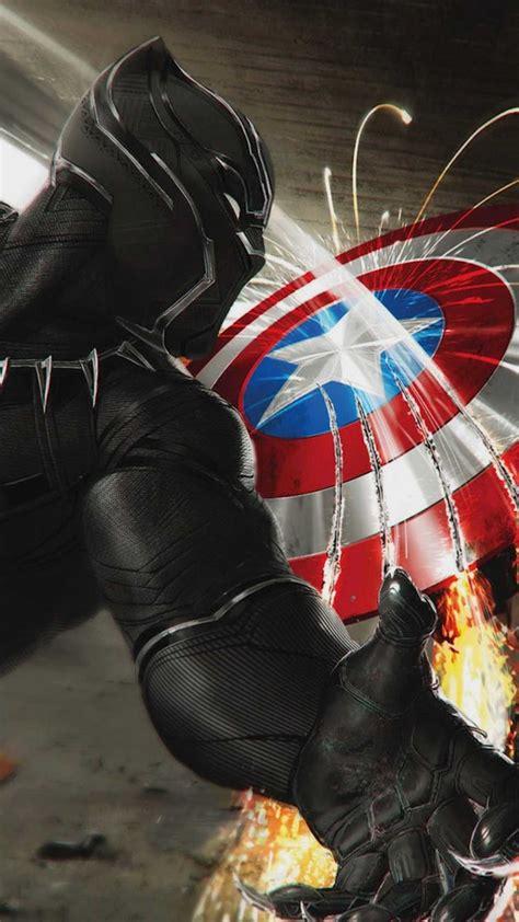 black panther  captain america iphone wallpaper iphone
