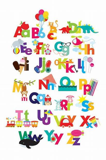 Alphabet Clipart Clip Illustrated Kindergarten Alphabets Letters