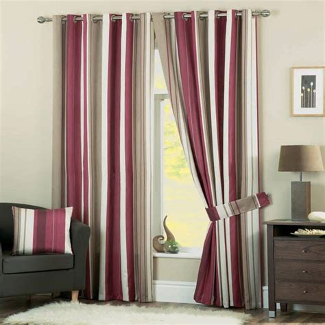 Vertical Striped Voile Curtains by Dreams N Drapes Whitworth Stripe Curtain Tie Backs Ebay