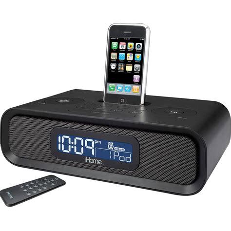 iphone clock radio ihome ip97 dual alarm clock radio ip97 b h photo