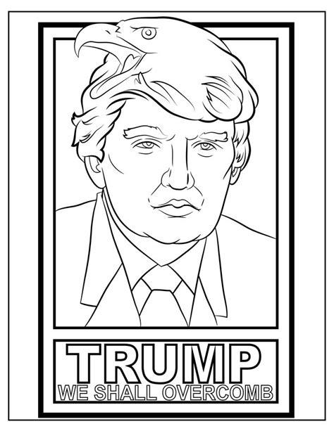 funny trump memes   overcomb coloring sheet