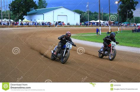 motocross races in ohio racers fight for the win editorial stock photo image