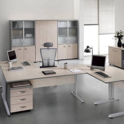 bureau chene clair bureau 180x80 cm chêne clair aluminium mobilier de
