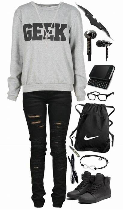 Outfits Emo Nerd Polyvore Geek Scene Carrot
