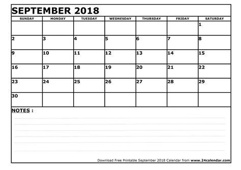 blank september calendar printable format