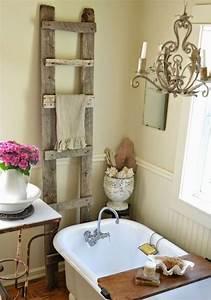 Des idées déco pour une salle de bain shabby chic
