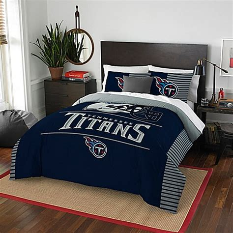 nfl tennessee titans draft full queen comforter set bed