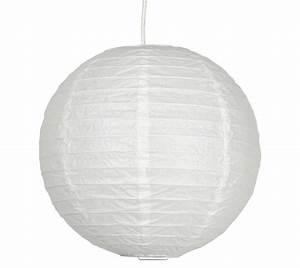 Suspension Boule Blanche : suspension boule japonaise papier de riz 30cm blanche ~ Teatrodelosmanantiales.com Idées de Décoration