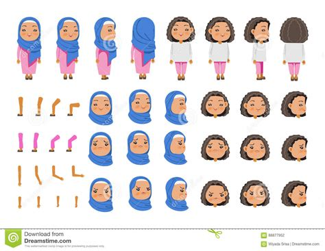 Arabic Girl stock vector Illustration of asia cloth