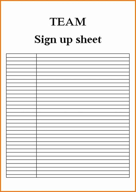 Sign In Sheet Template Blank Sign In Sheet Exle Mughals