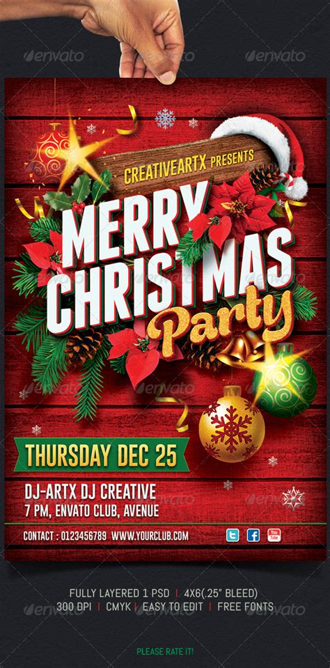 Christmas Party Flyer By Creativeartx  Graphicriver. Making A Family Tree Template. Free Comparison Chart Template. Free Fitness Flyers Template. International Relations Graduate Programs. Table Of Organization Template. Top Architecture Graduate Schools. Memo Template For Word. Timeline Template For Mac