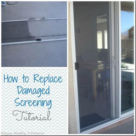 replace  damaged screen door screen  window