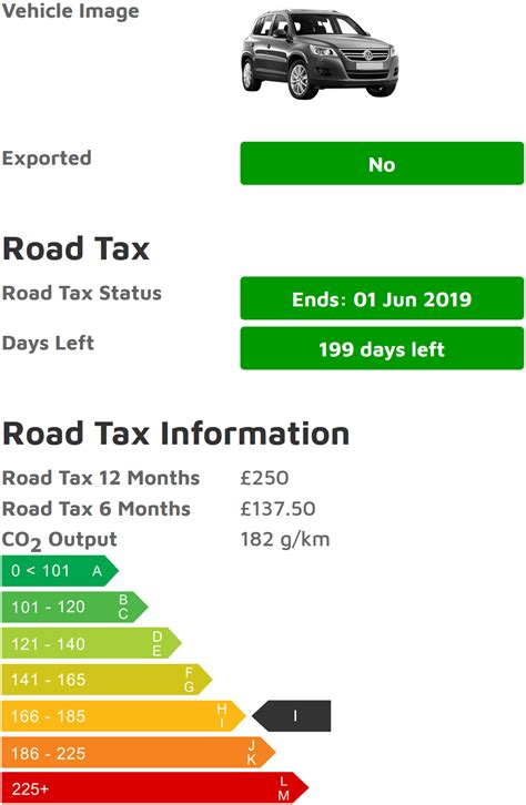 car tax check vehicle excise duty  road tax check