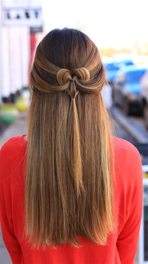 pancaked heart cute girls hairstyles