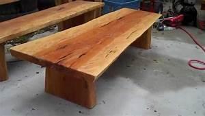 beech slab coffee table youtube With beech wood coffee table