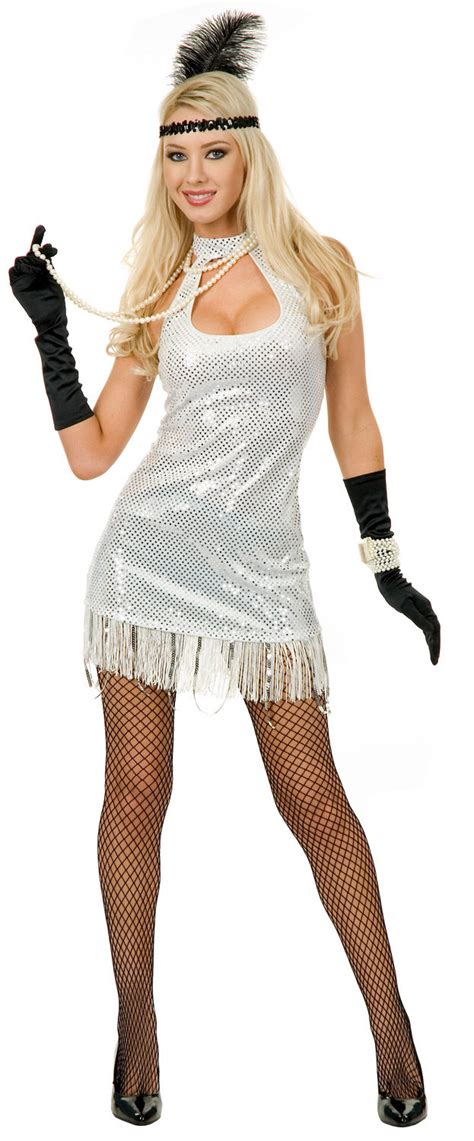 sexy sequined  flapper girl costume  costumes
