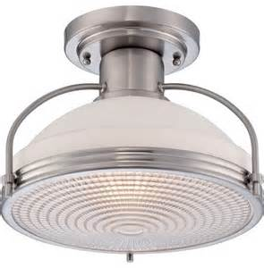 quoizel quoizel brushed nickel semi flush mts sku
