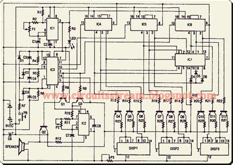 Digital Electronic Slot Machine Circuit Diagram