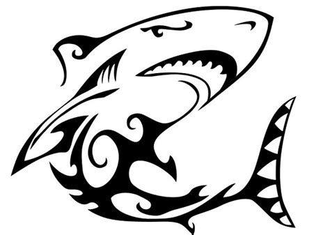15 Awesome Tribal Shark Tattoos  Only Tribal Clipart