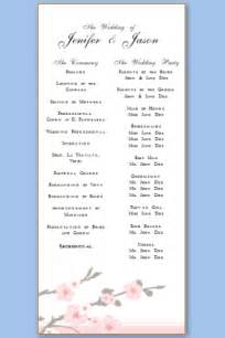 wedding program templates wedding program templates free printable wedding program templates